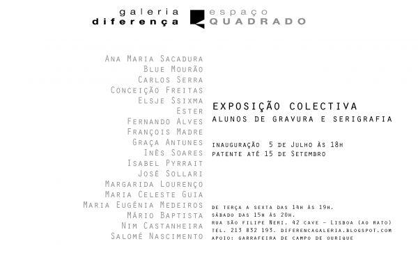 Exposição Colectiva de alunos de Gravura e Serigrafia