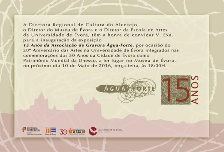 Museu de Évora 15 Anos de Água-Forte